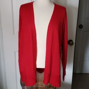 XL Red Coldwater Creek Cardigan